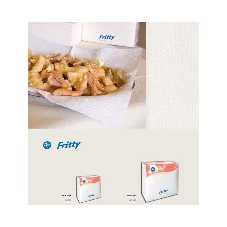 Carta Assorbente Per Fritti 40x40 Pz X Ct 640 Panno carta per fritti in Airlaid Piega Z Super Assorbenti Fritty Panno Airlaid F
