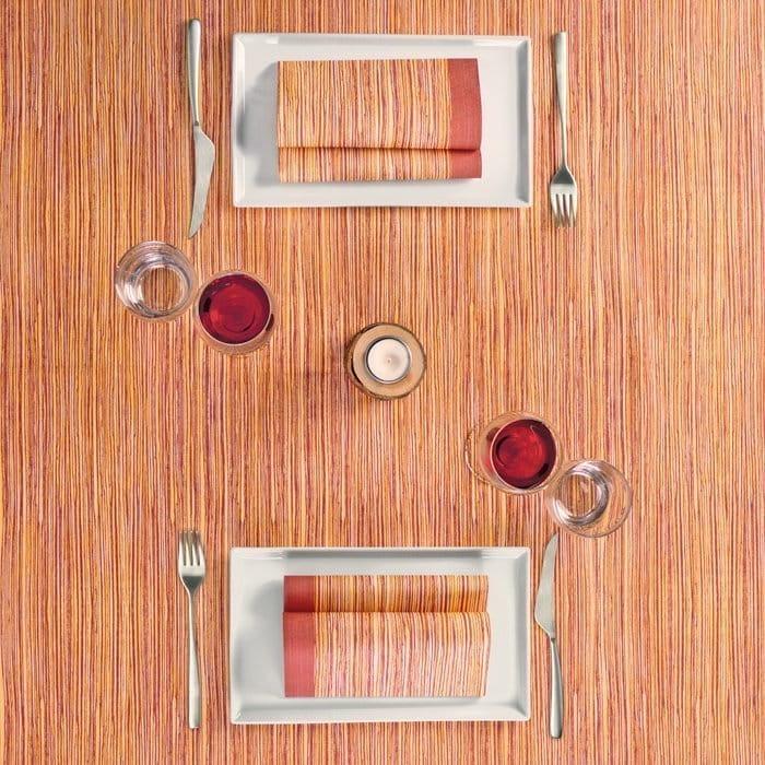 WOODY BORDEAUX - Questo prodotto è un coordinato Puoi abbinare la tovaglia con tovaglioli