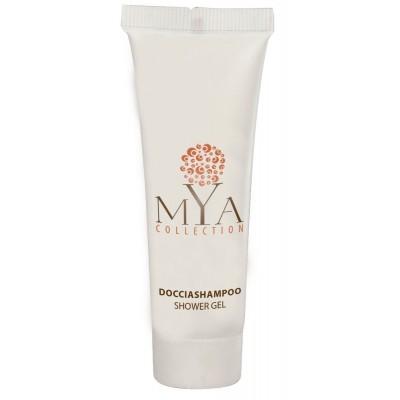 Doccia shampoo MYA COLLECTION flacone 30 ml DOCCIA SHAMPOO MYA COLLECTION flacone 30 ml. colore prodotto: bianco pezzi per cart