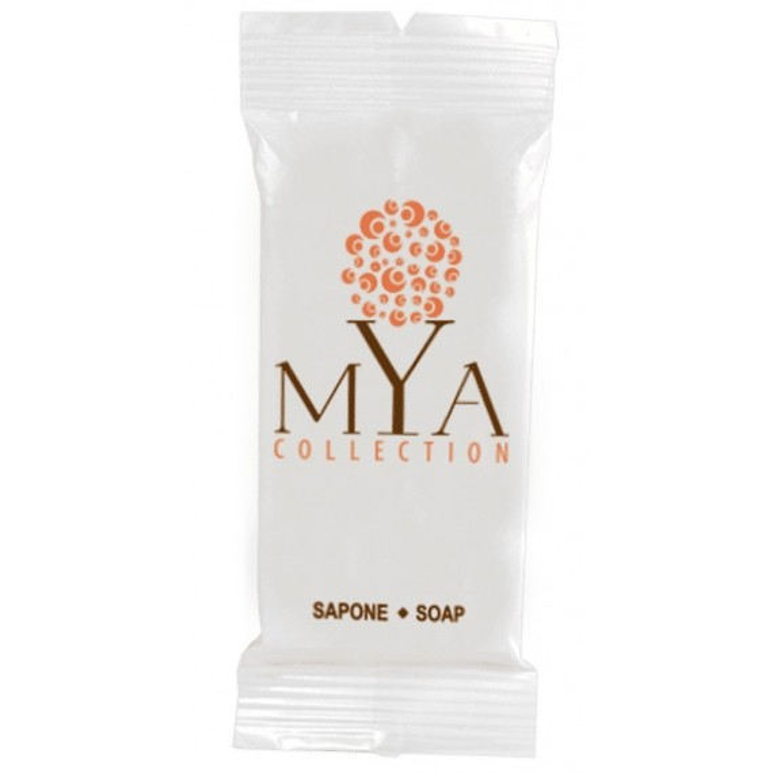 Sapone MYA Collection flowpack 14gr. SAPONE RETTANGOLARE MYA COLLECTION flowpack 14gr. pezzi per cartone: 500