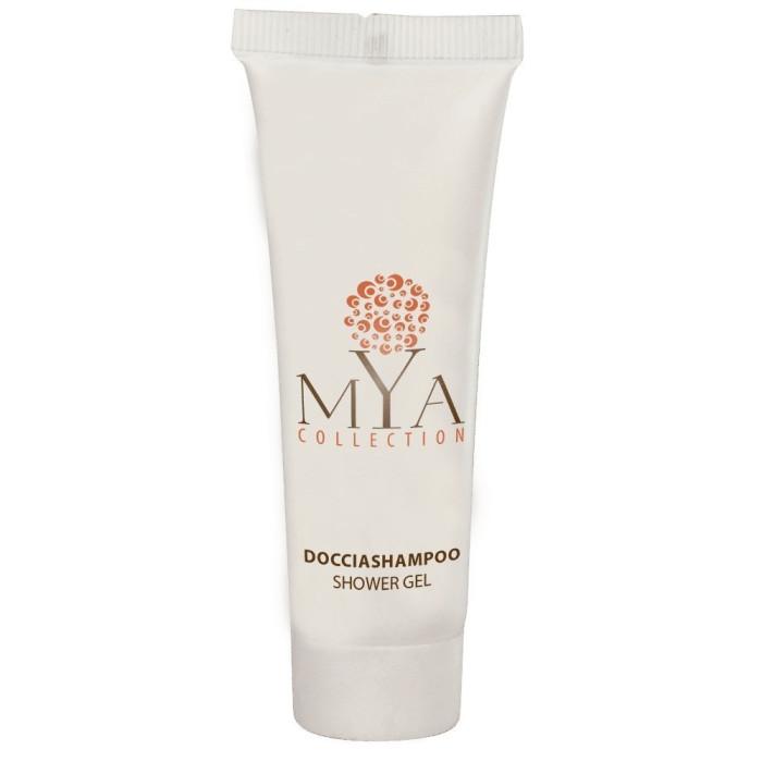 Doccia shampoo tub. MYA Collection D/S TUBETTO MYA COLLECTION 30ml tubetto 30ml. colore prodotto: bianco pezzi per cartone: 300